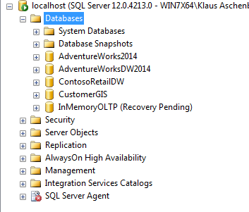 Ops, our database is now in the state Recovery Pending...