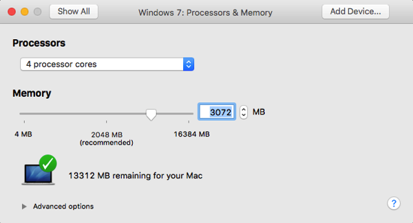 Let's reconfigure our VM with too less memory for In-Memory OLTP